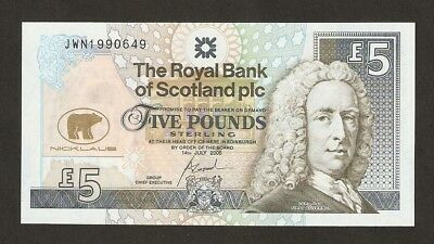 2005 Scotland £5 Pounds Final Appearance Of Jack Nicklaus At The Open Champions