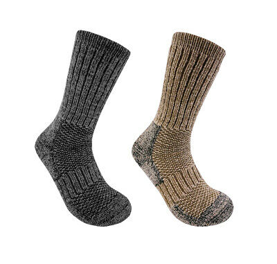 2 Pack Men's-Woman's Alpaca Wool Heavyweight/Thick Ski/Hiking Crew Socks D200