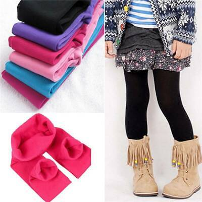 Girl Kids Warm Thick Fleece Leggings Stretchy Skinny Trousers Pants Popular New