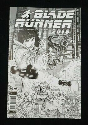 Titan Comics Blade Runner #1 Nycc 2019 Diamond Retailer Exclusive B&W Sketch Var