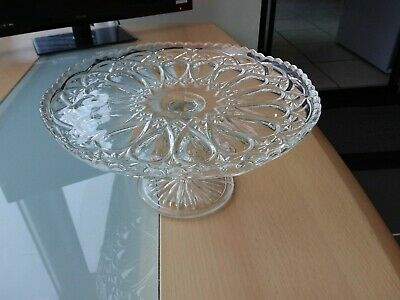 Decorative Clear Glass Cake Stand