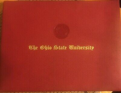 The Ohio State University College Degree Diploma Holder