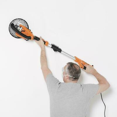 Telescopic Drywall Sander Extendable Pole Plasterboard Dust Extraction LED Light