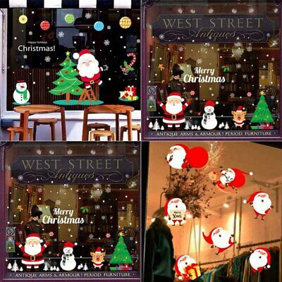 Christmas Santa Claus Removable PVC Window Store Wall Stickers Decal Home Decor