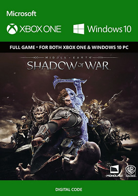 Xbox One Middle-Earth Shadow of War Full Game Digital Download Code XO