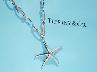 Tiffany & Co Sterling Silver Elsa Peretti Large Starfish Oval Link Necklace