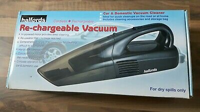 Halfords Car & Domestic Rechargeable Cordless Vacuum Cleaner