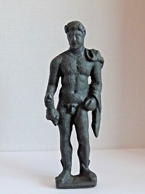 Amazing Bronze Ancient (Authentic) Statuette, Figure of Mercury   1-2 AD.  67mm.