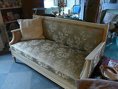 Antike Bank Louis XVI shabby chic bench antique french style chinoise fabrics