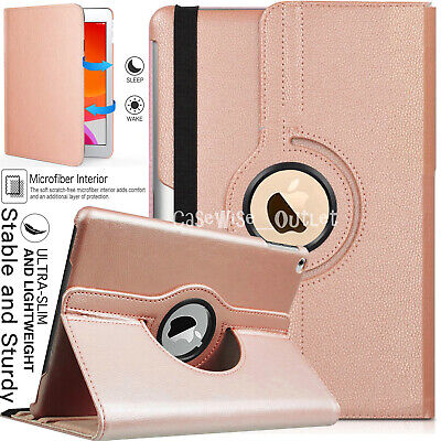 "For Apple iPad 10.2"" 2019 (7th Generation) 360 Rotating Leather Smart Case Cover"