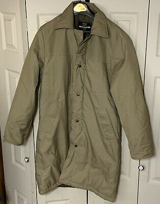 Vintage Sportsmaster Long Jacket Coat Men's Size Small Tan Khaki Color
