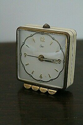 A Very Pretty 1950s Emes Ladies Travelling Alarm Clock, West German
