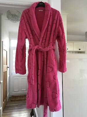 ⭐️M&S Marks Spencer⭐️PER UNA Pink Dressing Gown Robe ~ Girls Women's 8-10