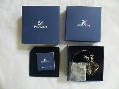 Swarovski Crystal 2007 Annual Heart Ornament Coa 886104 New Nib