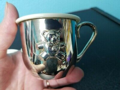 SHERIDAN BABY CUP WITH SIPPER LID - SILVER PLATED Sipper Cup Memories