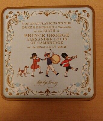 "Collectible Empty M&S ""Birth of Prince George"" Commemorative Biscuit Tin"