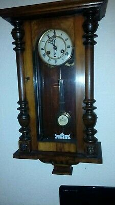 Small Antique Vienna Wall Clock - Working Condition