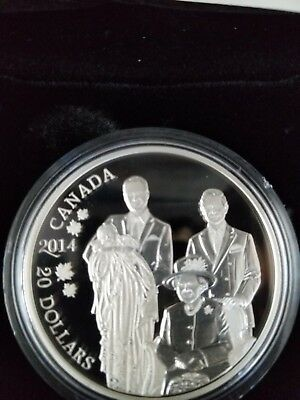 2014 'Royal Generations' Proof $20 Silver Coin 1oz .9999 Fine  NEW Canadian