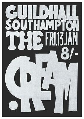 Cream * POSTER * Live in LONDON Guildhall Eric Clapton Ginger Baker - POWER TRIO