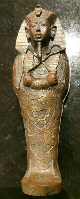 "King Tutankhamun Egyptian Sarcophagus + Mummy 7"" tall Free P&P"