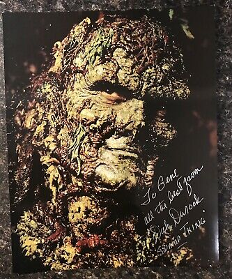 DICK DUROCK, 8x10, FROM THE MOVIE SWAMP THING PERSONALIZED