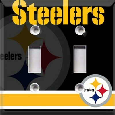 Football Pittsburgh Steelers Light Switch Plate Cover ~ Choose Your Cover ~