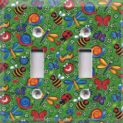 Fun Bugs Themed Light Switch Plate Cover ~ Choose Your Cover ~ Kids Room Decor