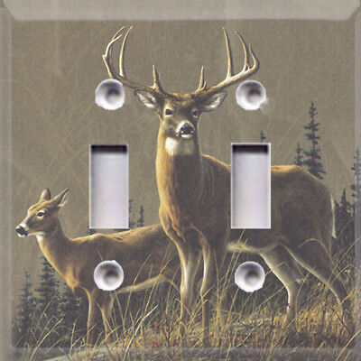 Hunting Bucks Deer Rustic Themed Light Switch Plate Cover ~ Choose Your Cover ~