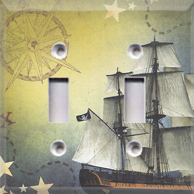 Pirate Ship Kids Room Themed Light Switch Plate Cover ~ Choose Your Cover ~