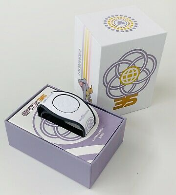Disney MagicBand EPCOT 35th Anniversary White Figment Magic Band NEW LE5000 NEW