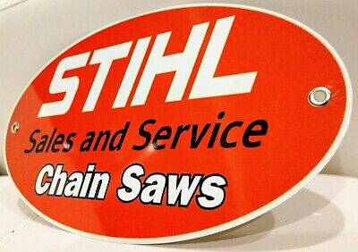 STIHL Chainsaw Sales and Service oval sign