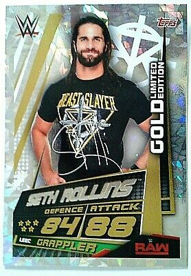 Slam Attax Universe 2019 Exclusive Rare Seth Rollins Gold Limited Edition Card