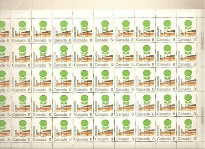 """640 8¢ """"Agriculture"""" Full Plate Sheet of 50 VFNH"""