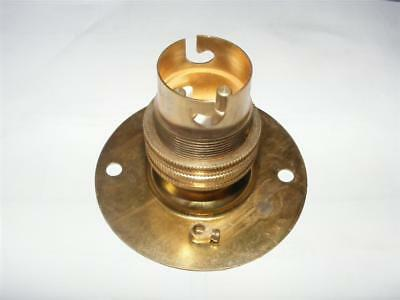 brass bayonet B22,BC lamp holder batten fix mounting plate,shade ring & earth
