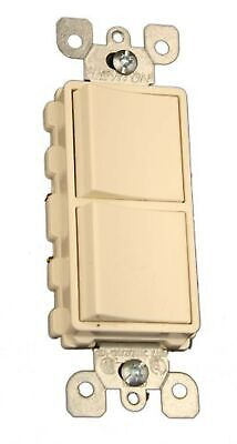 Leviton 5634-TS Decora 5634-T 15 Amp, 120/277 Volt Single-Pole AC Combination...