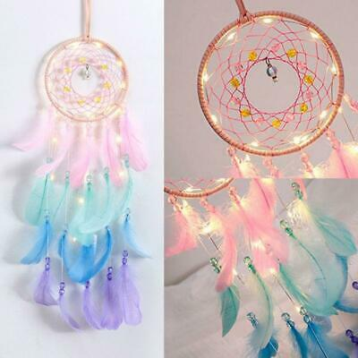 Dream Catcher Net With Feathers Bead Wind Chime Hanging Bell Home Car Decor Gift