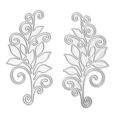 2pcs DIY Scrapbooking Die Card Metal Steel Flower Cutting Dies Stencils #Z