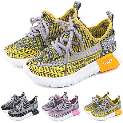 Child Kids Sneakers Boys Girls Running Sports Athletic Lace Up Breathable Shoes