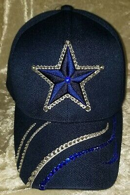 Dallas Cowboys Star Ladies Rhinestone Bling Hat ~FREE Ship!!~