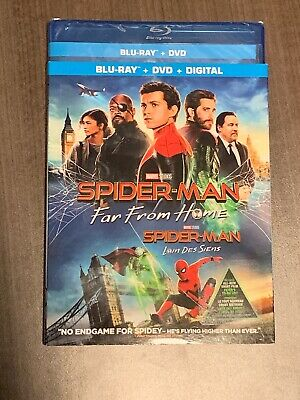Spider-Man 2 Far From Home Blu-Ray & DVD W Slipcover Canada Bilingual NO DC LOOK