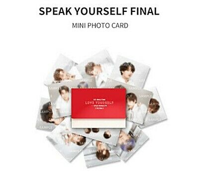 Bts World Tour Speak Yourself{The Final} Official Md/Goods: Mini Photo Card