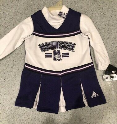 NWT Northwestern University Illinois Toddler Cheerleader Dress Outfit 4T