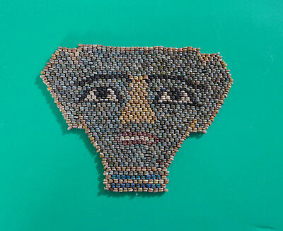 Egyptian Mummy Faience Bead Face Mask