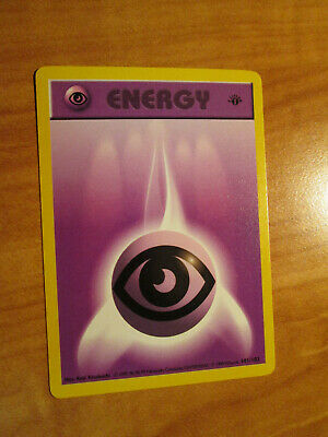 LP 1st edition Pokemon PSYCHIC ENERGY Card BASE Set 101/102 First ed Shadowless