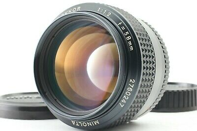 【ALMOST  MINT】 Minolta MC Rokkor 58mm F/1.2 LATE MF Lens for MD Mount from JAPAN