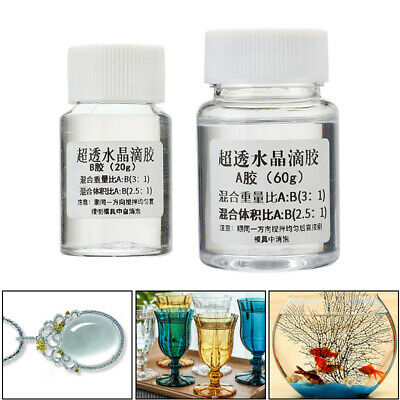 ltra-transparent AB Crystal Glue Two Component Epoxy Resin Sealant Quick Drying