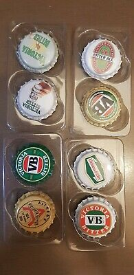 8 x VB Classic Collectables - Bottle Top Fridge Magnets -