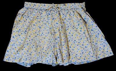 Girls Next Blue Yellow White Ditsy Floral Lined Skorts Shorts Age 4-5 Years