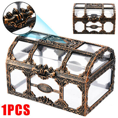 Pirate Treasure Box Crystal Gem Jewelry Box Storage Organizer Treasure Chest US