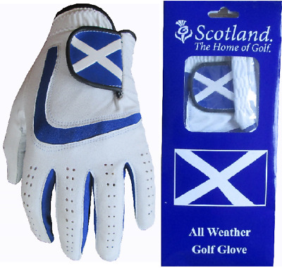 4 Scotland All Weather Men Golf Gloves 5 Sizes Cabretta Leather Patch & Thumb